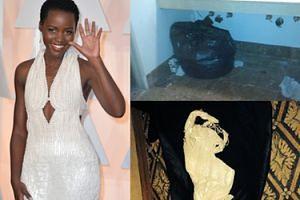 Złodziej zwrócił suknię Lupity! Wrzucił ją do śmietnika!