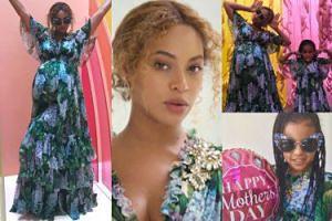 Beyonce i Blue Ivy w bliźniaczych stylizacjach świętują Dzień Matki (FOTO)