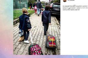 Małgorzata Rozenek składa uczniom życzenia (FOTO)