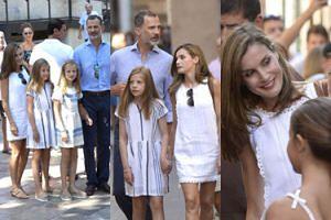 Opalona królowa Hiszpanii z mężem i córkami odpoczywa na Majorce (ZDJĘCIA)