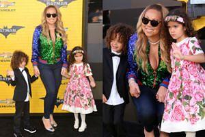 """Mariah Carey z dziećmi na premierze filmu """"Lego Batman"""" (ZDJĘCIA)"""
