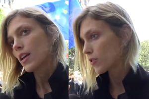 """Anja Rubik na Czarnym Proteście w Paryżu: """"Walczymy, żeby nowa ustawa nie przeszła"""""""