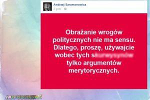 """Saramonowicz: """"Obrażanie wrogów politycznych nie ma sensu..."""""""