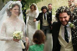 Tak wyglądał ślub Kita Haringtona i Rose Leslie! (ZDJĘCIA)