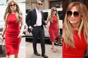 Jennifer Lopez w obcisłej sukience na randce z chłopakiem. Seksowna? (ZDJĘCIA)