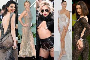 NAJODWAŻNIEJSZE kreacje 2017 roku: Lady Gaga, Kendall Jenner, Bella Hadid, Jennifer Lawrence... (ZDJĘCIA)