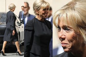 Elegancka Brigitte Macron z mężem na audiencji w Watykanie (ZDJĘCIA)