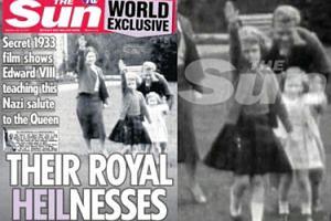 """Skandal w Wielkiej Brytanii: 7-letnia królowa Elżbieta II... """"HAJLUJE""""!"""