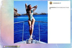 Modelka z bielactwem wspomina lato