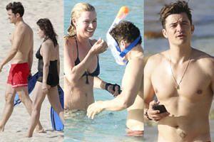 Orlando Bloom bawi się z NOWYMI DZIEWCZYNAMI na plaży (ZDJĘCIA)