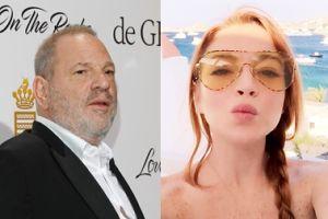 """Lindsay Lohan BRONI Weinsteina: """"Jest mi go żal. To nie jest w porządku"""""""