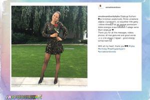 Anna Lewandowska podziękowała za życzenia