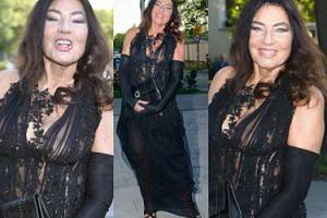 74-letnia Perepeczko w prześwitującej sukience... (ZDJĘCIA)