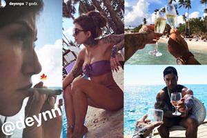 """Plaża, drinki i... marihuana - tak wyglądają """"beztroskie"""" wakacje Deynn i Majewskiego (ZDJĘCIA)"""