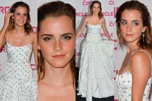 Emma Watson chwali się dekoltem w sukni z prześcieradła (ZDJĘCIA)