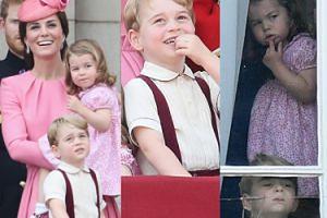 Zachwyceni Charlotte i George na urodzinach babci, królowej Elżbiety (ZDJĘCIA)