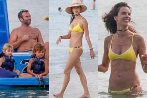 Alessandra Ambrosio z partnerem i dziećmi na plaży (ZDJĘCIA)