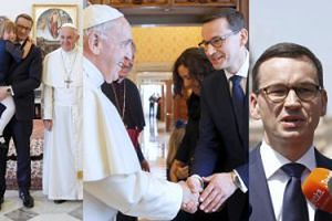 Premier Morawiecki zabrał rodzinę na audiencję u papieża (ZDJĘCIA)
