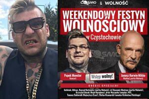 """Popek i Korwin-Mikke będą gwiazdami... """"Festynu Wolnościowego"""" w Częstochowie"""