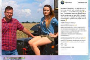 """Ania z """"Rolnik szuka żony"""" siedzi z niezadowoloną miną na kombajnie"""