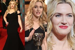Piękna Kate Winslet na rozdaniu nagród BAFTA (ZDJĘCIA)
