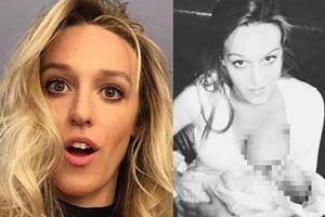 """Żona Żebrowskiego promuje karmienie piersią na Instagramie. Fanki już się oburzają: """"Niektórzy NIGDY NIE POWINNI ZOSTAĆ RODZICAMI!"""""""