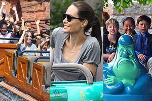 Angelina na prośbę Shiloh zabrała dzieci z Kambodży do Disneylandu! (FOTO)