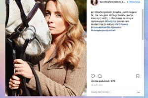 Karolina Ferenstein motywuje konia