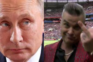 Mundial 2018: SKANDAL na otwarciu! Robbie Williams pokazał środkowy palec...