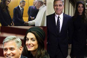 George i Amal Clooney spotkali się z papieżem! (ZDJĘCIA)