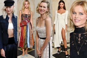 Gwiazdy i modelki na pokazie Diora: Ratajkowski, Watts, Kloss, Herzigova... (ZDJĘCIA)