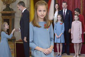 12-letnia księżniczka Eleonora odbiera od ojca najważniejszy order w Hiszpanii! (ZDJĘCIA)