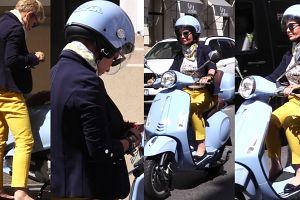 Racewicz wraca skuterem z zakupów (WIDEO)