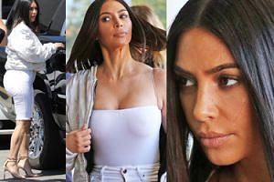 Kim Kardashian CAŁA NA BIAŁO odsłoniła umięśnione łydki (ZDJĘCIA)