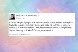 """Andrzej Saramonowicz pyta o spektakl """"Śmierć i dziewczyna"""""""