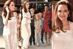 Angelina Jolie z dziećmi na festiwalu filmowym w Toronto (ZDJĘCIA)