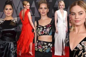 Gwiazdy Hollywood na czerwonym dywanie: Lawrence, Stone, Kruger, Hayek, Robbie... (ZDJĘCIA)