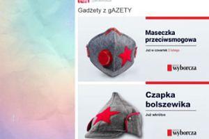 """Maseczka od """"Gazety Wyborczej"""" w kolorach budionówki"""