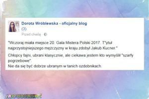 """Dorota Wróblewska o gali Mistera Polski: """"Nie da się być dobrze ubranym w tanich ozdobnikach"""""""
