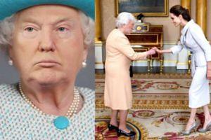 Donald Trump w roli brytyjskiej królowej (GALERIA)