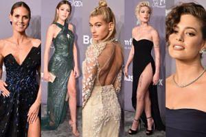 Tłum modelek na gali w Nowym Jorku: Hailey Baldwin, córka Stallone'a, Heidi Klum, Ashley Graham... (ZDJĘCIA)