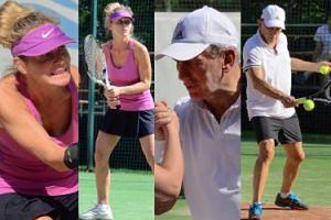 Wysportowani i zaangażowani Jan Englert i Beata Ścibakówna grają w tenisa (ZDJĘCIA)