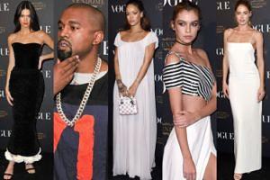 "Kendall Jenner, Rihanna i Kanye West na 95. urodzinach ""Vogue Paris""! (ZDJĘCIA)"