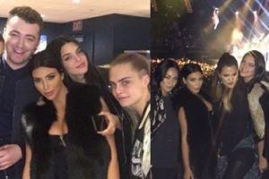 Kardashianki imprezują z Carą Delevingne (FOTO)