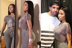 """Nicki Minaj w """"kolczudze""""! Na goły biust... (ZDJĘCIA)"""