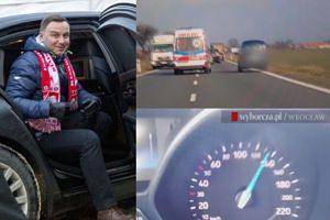 """""""Gazeta Wyborcza"""": """"Kolumna prezydencka łamała przepisy, przekraczała prędkość, spychała inne auta na pobocze!"""""""