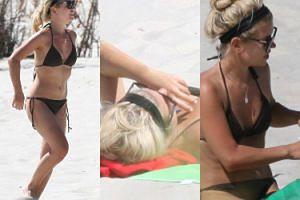Zgrabna Marta Manowska wygrzewa się na plaży w Juracie (ZDJĘCIA)