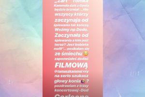 Opole 2018: Doda zbulwersowana żartami Tomasza Kammela
