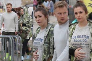 TYLKO U NAS: Wesołowski z ciężarną żoną spacerują po Gdyni (ZDJĘCIA)