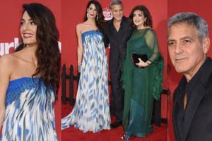 Amal Clooney po urodzeniu bliźniaków pozuje na ściance z mężem i... mamą (ZDJĘCIA)
